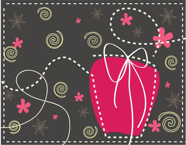 可愛い線画のギフトボックス Cute Gift Box Illustration
