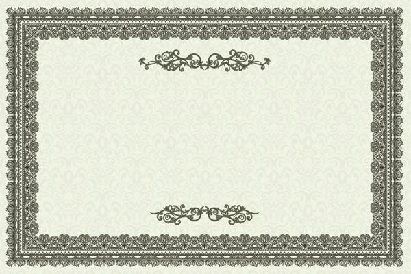 洗練された証明書テンプレート exquisite european certificate template