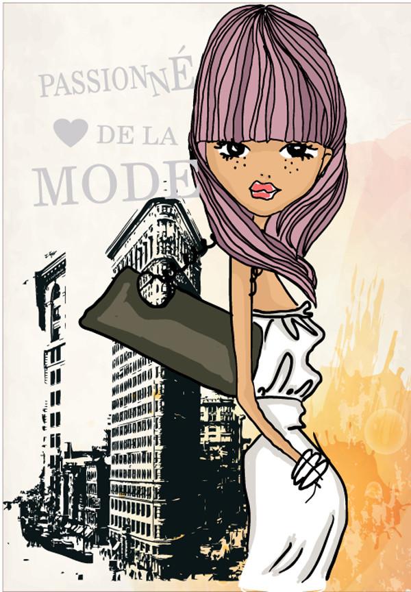 ショッピングを楽しむお洒落な女性 fashion shopping girl