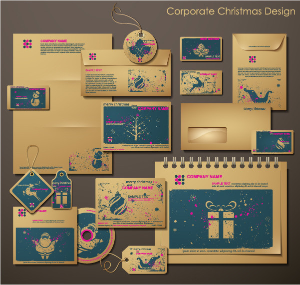 クリスマス デザインの事務用品 christmas around the product