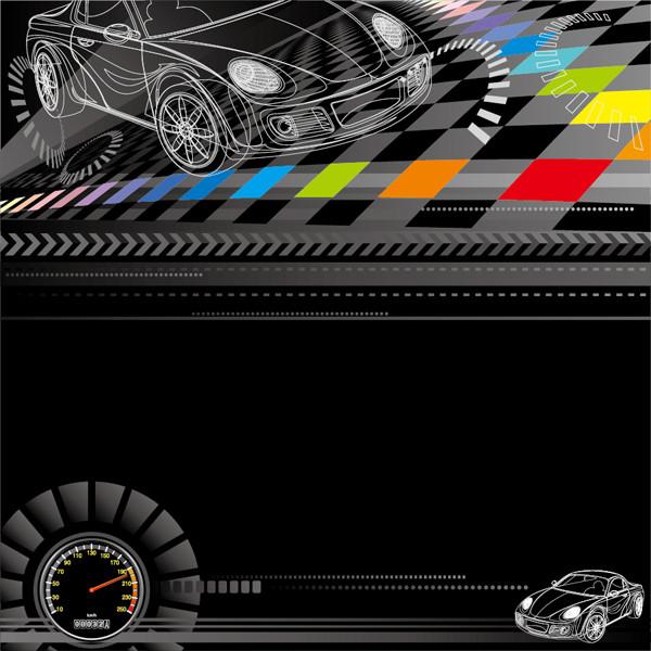 自動車レースをイメージした背景 racing theme background pattern