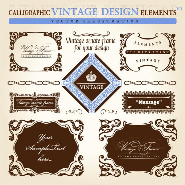 古典的な飾り罫 European classic lace borders