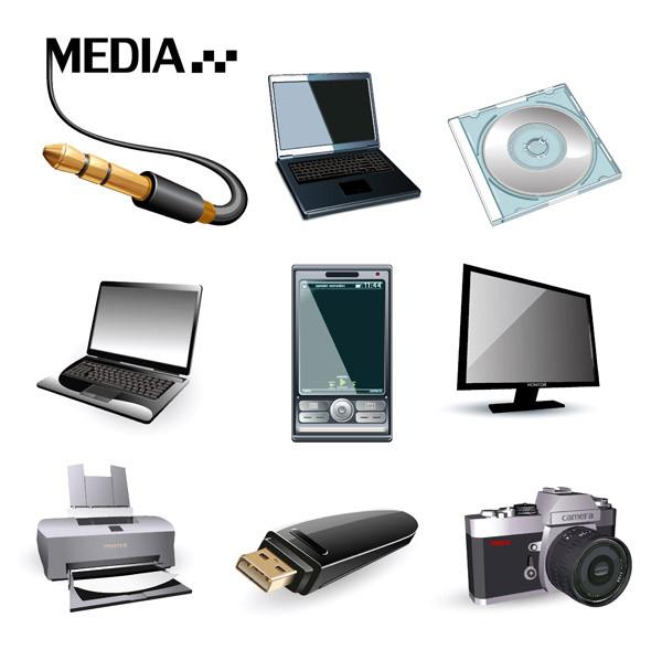 デジタル機器のアイコン digital product icon vector1