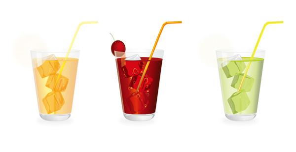 果物ジュースのグラス Glass of fruit Juice with ice
