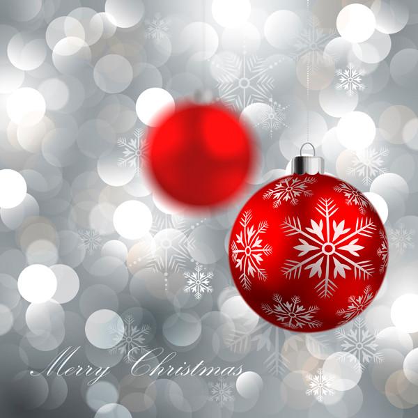 光で美しくぼやけたクリスマスボール beautiful christmas ball background4
