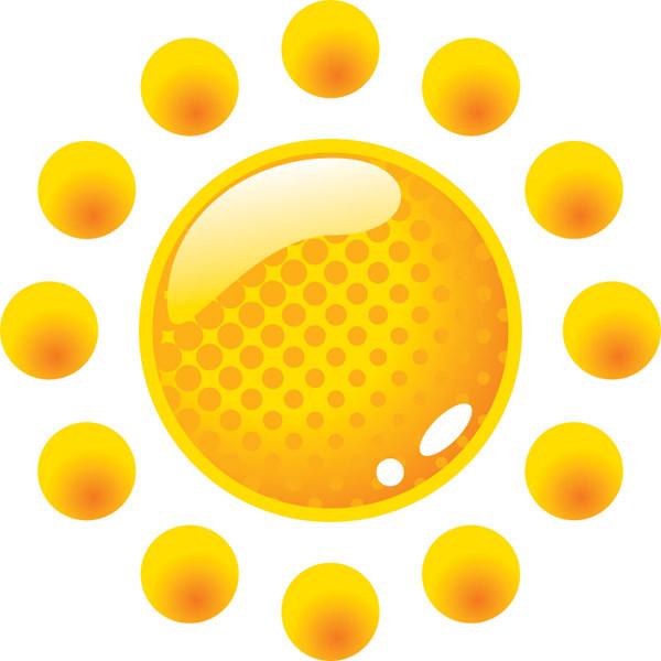 輝く太陽のクリップアート The sun flame cartoon3