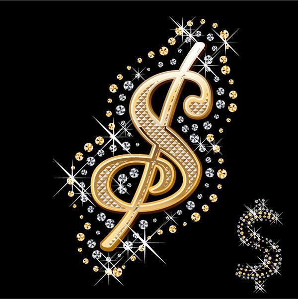ダイヤモンドで飾り付けたアルファベット文字 diamond embedded in the english alphabet1