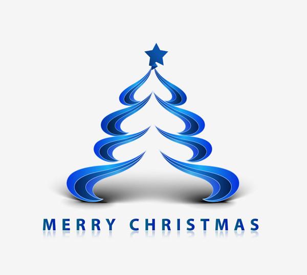 シンプルな曲線で描くクリスマス ツリー creative christmas tree