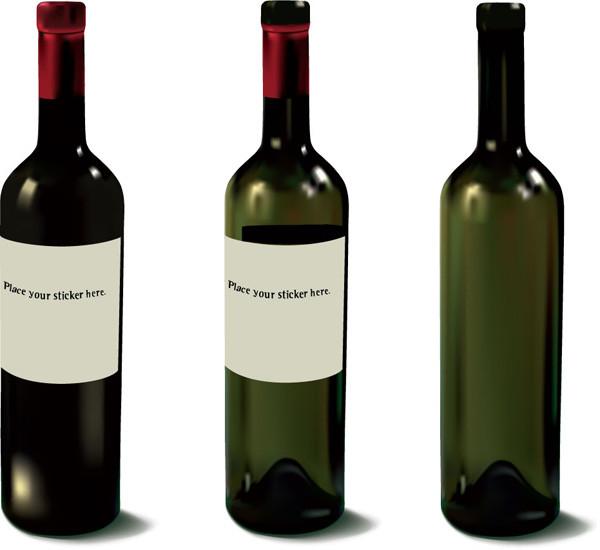 ワインボトルとグラス several wine bottles and glasses7
