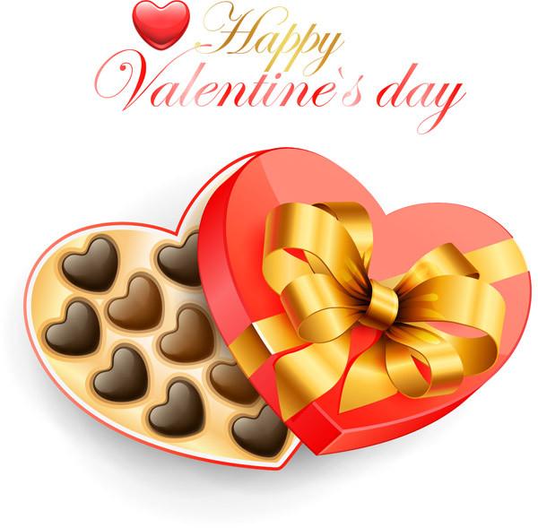 バレンタインデー ハート型のギフト箱 romantic valentine day heartshaped gift box2