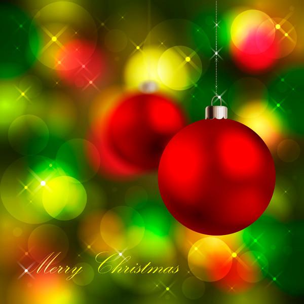 光で美しくぼやけたクリスマスボール beautiful christmas ball background3