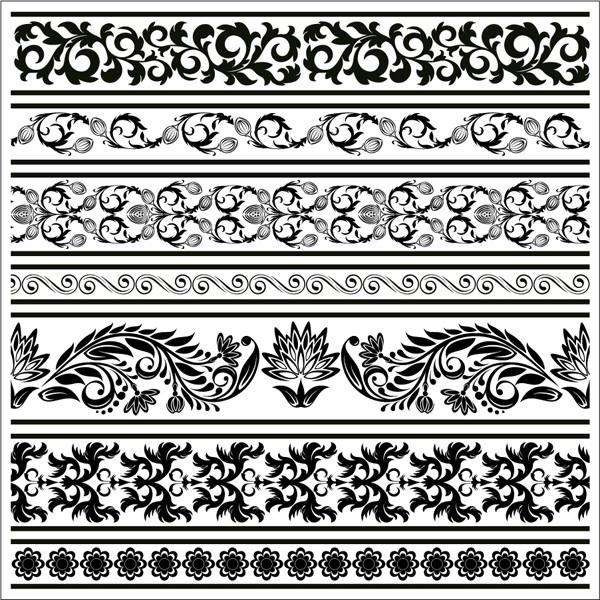 ヴィンテージ ボーダー パターン Vintage border pattern4