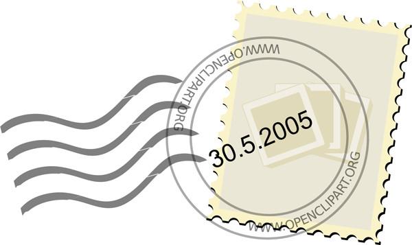 切手と消印のクリップアート Postage Stamp clip art