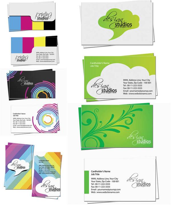 モダンな名刺テンプレート business cards in modern graphic style