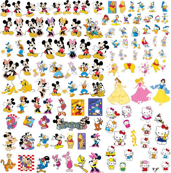 ディズニー映画キャラクターのクリップアート disney cartoon clip art collection