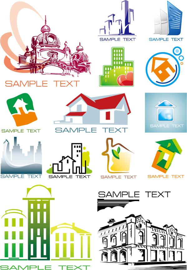 建築物を表現したクリップアート architecture building house graphics