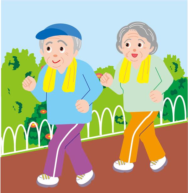 生活する高齢者のクリップアート 100 elderly people living2
