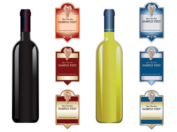 ワインボトル デザイン見本 wine bottles label
