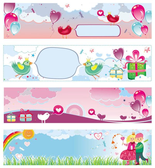 可愛いバレンタインデーの背景 background vector cute valentine day3