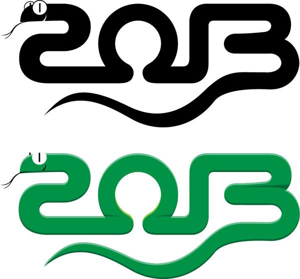 干支のへびを描いた背景 Year of snake 2013 backgrounds3