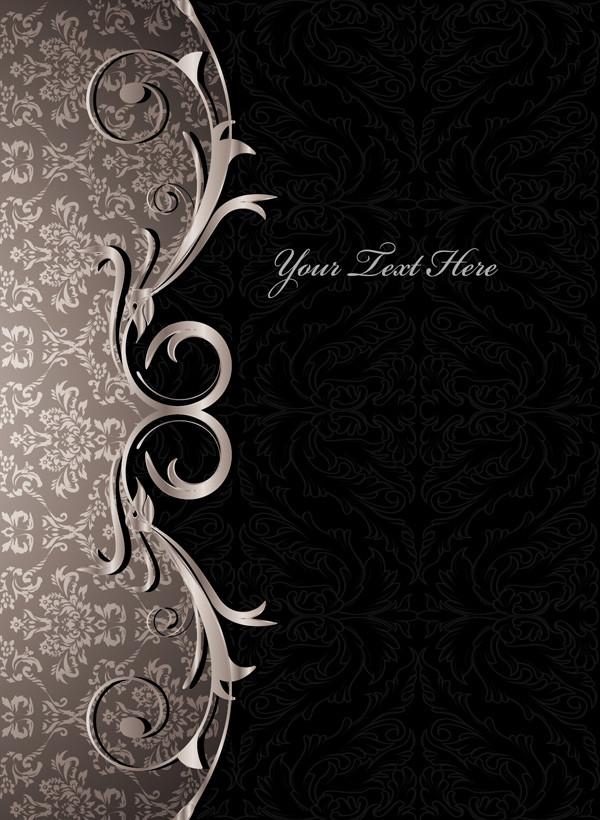 ゴージャスで古典的な飾り罫 gorgeous european classical pattern