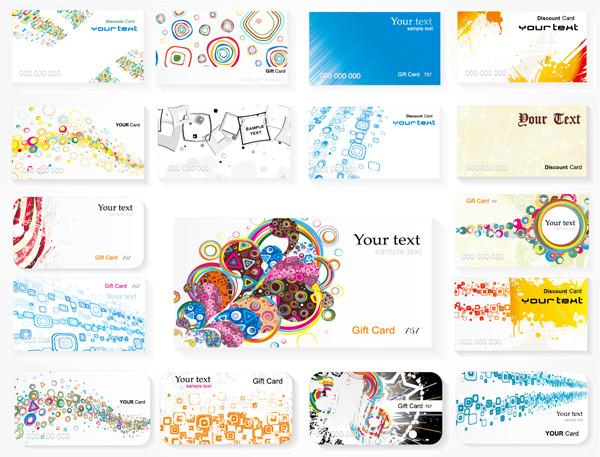 現代風のカードデザイン背景 current card template4