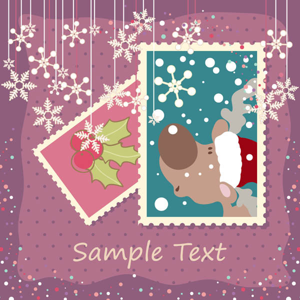 エレガントなクリスマス スタンプ elegant christmas stamp vector2
