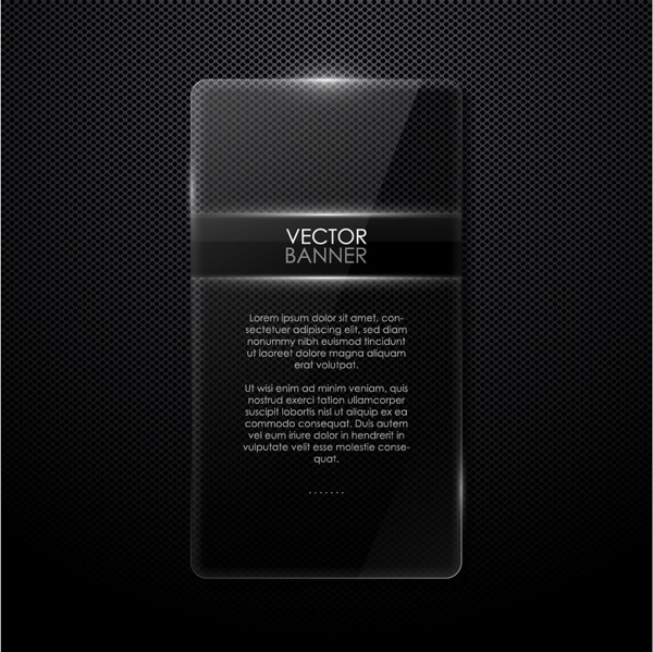 ガラス テクスチャのテキスト スペース Cool borders glass texture vector material
