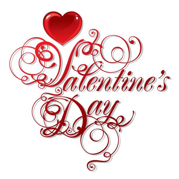お洒落なバレンタインデーのロゴ decorating Valentine's Day logo
