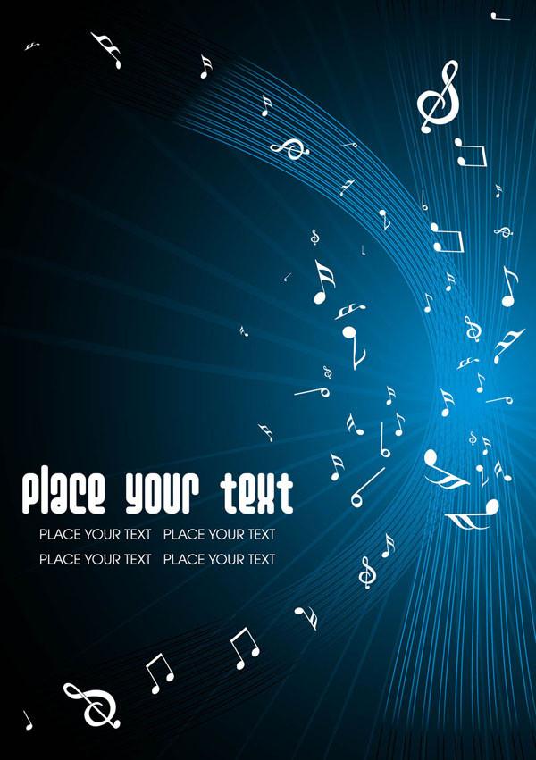音符が踊る蒼い背景 keys blue background eps · background · 背景 · blue · 音符 · 蒼い · keys