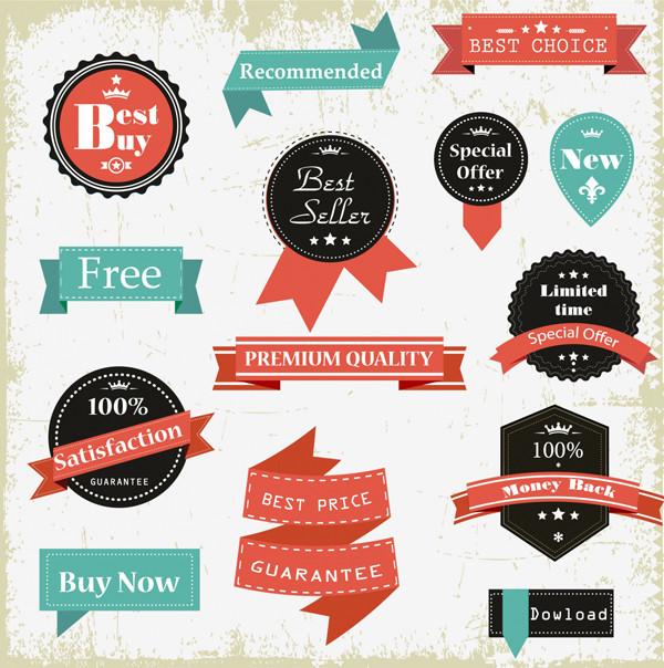 ウェブデザイン用ヴィンテージ ラベル web design Vintage Labels