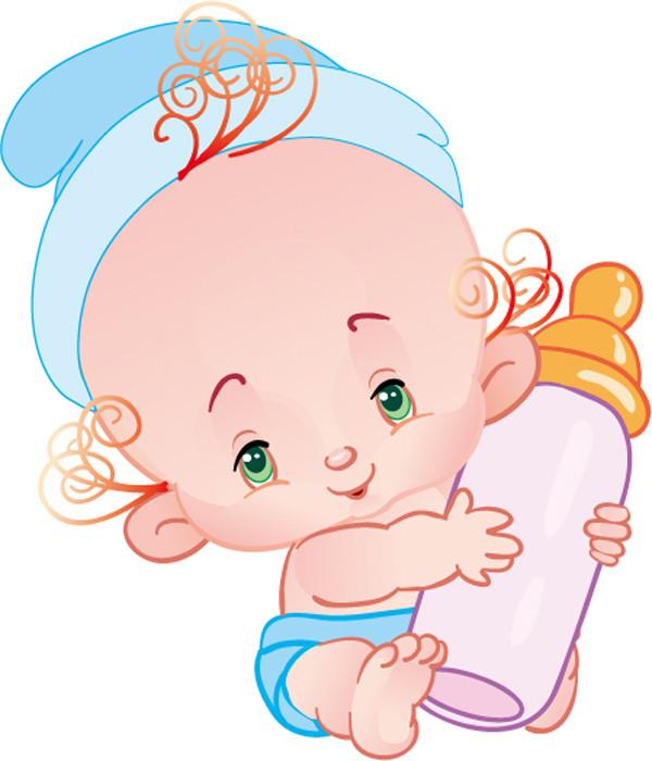 可愛い赤ちゃんのクリップアート cartoon cute baby vector3