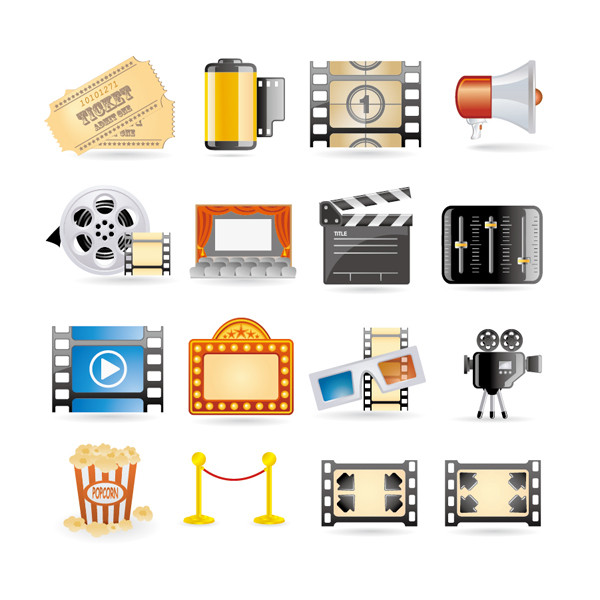 映画製作アイコン Movies cinema projectors icon