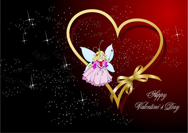 ハートで飾るバレンタインデーの背景 Valentine heart-shaped dancing backgrounds2