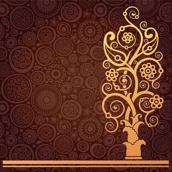 豪華な金色パターンの背景 european gorgeous pattern3