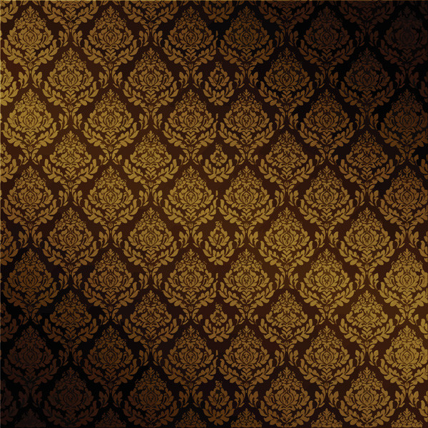 重厚な古典的パターンの背景 european gorgeous pattern vector background3