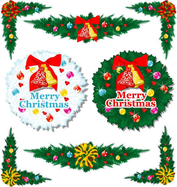 クリスマス素材のイラスト cartoon christmas element vector2