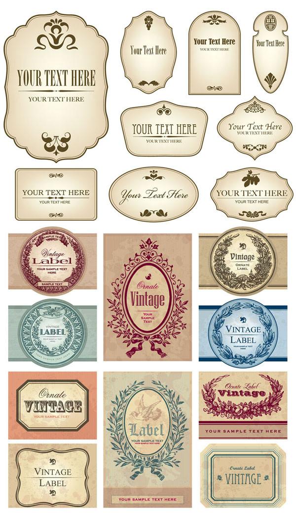 懐かしいヴィンテージ ラベル デザイン European-style vintage label