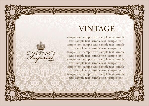 ヨーロッパ調のフレーム vintage european pattern frame
