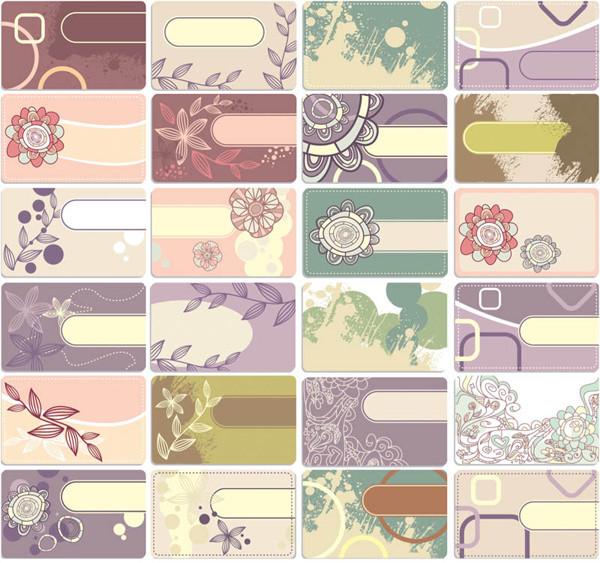 春をイメージしたヴィンテージ名刺テンプレート spring vintage card templates for business cards