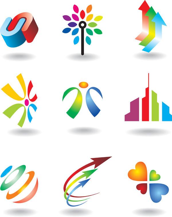 カラフルな色使いのグラフィック ロゴデザイン some logo vector graphic1