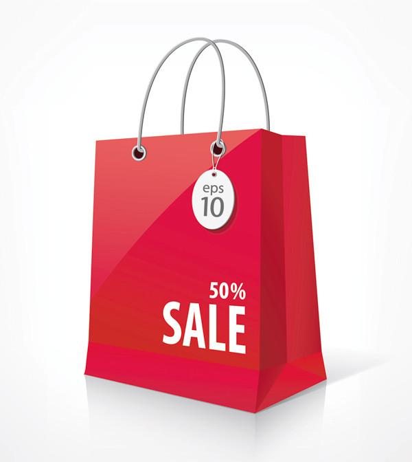 割引セールの紙袋 Shopping paper bags