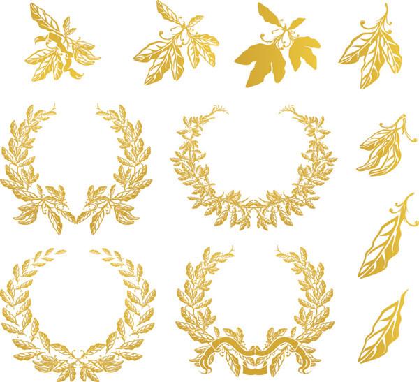 オリーブ飾りと月桂冠 Olive and laurel wreath decoration