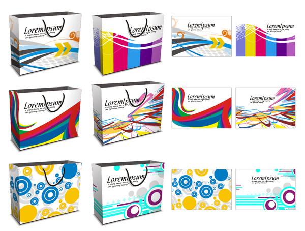 買い物用のカラフルな紙袋 vector colorful shopping bags