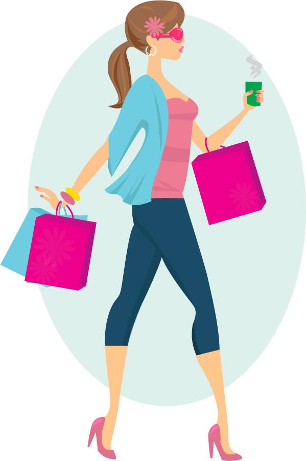 買い物を楽しむ女性 Fashion Shopping Girl