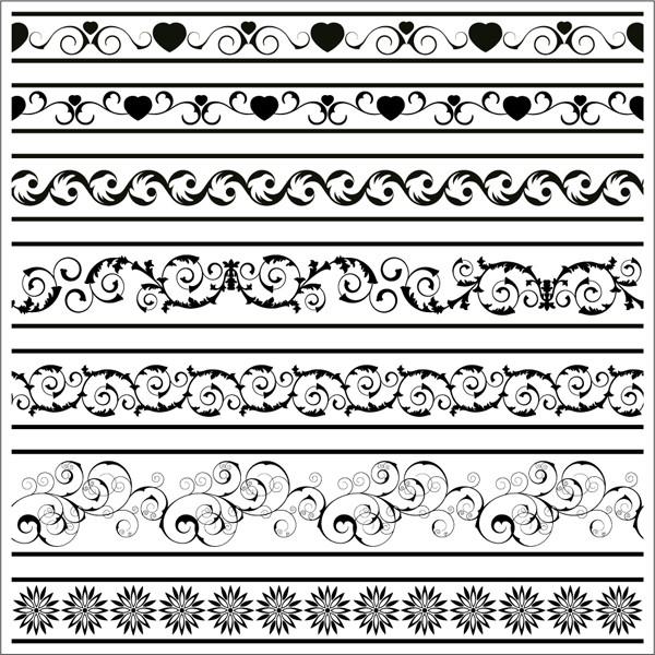 ヴィンテージ ボーダー パターン Vintage border pattern5
