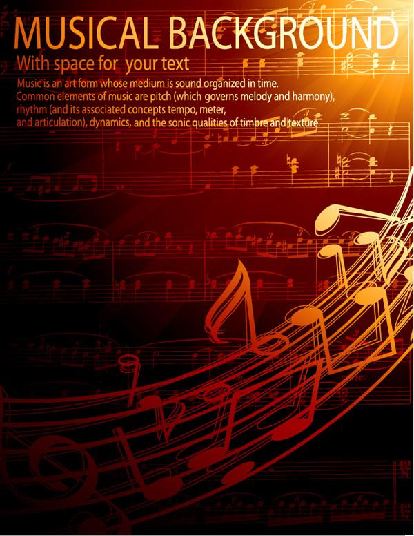 お洒落な楽譜の背景 gorgeous classical music background