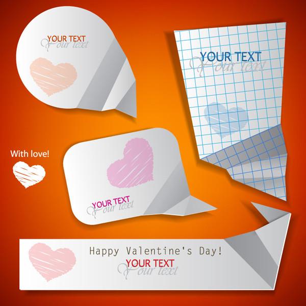 バレンタインデー テキスト ラベル Valentine's Day text labels