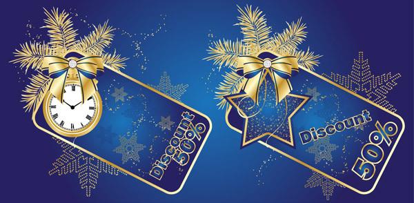 クリスマスの背景とディスカウント タグ gorgeous christmas vector3