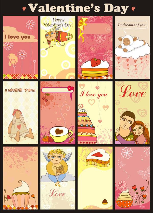 可愛いバレンタインデーの背景 background vector cute valentine day